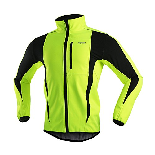 ARSUXEO Winter Warm UP Thermal Softshell Cycling Jacket Windproof...