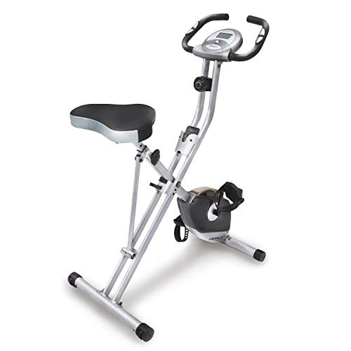 Exerpeutic Folding Magnetic Upright Exercise Bike with Pulse, 31.0' L...