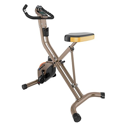 Exerpeutic Gold Heavy Duty Foldable Exercise Bike with 400 lbs Weight...