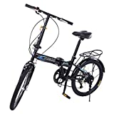 20in Folding Bikes for Adults and Teens, 7 Speed City Folding Compact...