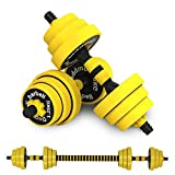 Xesvk Adjustable Dumbbell Barbell Weight Pair, Free Weight,...