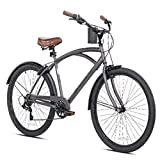 New 26' Mens Kent Bayside 7 Speed Bicycle Shimano Steel Frame Hot Rod...