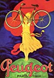 PEUGEOT PARIS FRANCE WOMAN ON TOP OF THE WORLD CARRYING LIGHT BICYCLE...