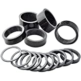 Fengek 15 Pcs Headset Spacer for Bicycle, 7 Sizes Carbon Fiber Road...