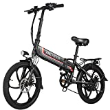 ANCHEER Folding Electric Bike Ebike, 20'' Electric Commuter Bicycle...