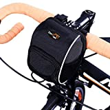 Disconano Cycling Bike Bicycle Handlebar Bags Front Baskets Black with...