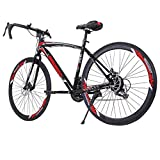 XINQITE Road Bike, Shimanos Full Suspension 700c Racing Bike, High...