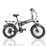 PASELEC Electric Bike for Adults,Folding Electric Bicycle, Mountain...
