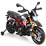 Costzon 12V Kids Motorcycle, Licensed Aprilia Electric Motorcycle Ride...