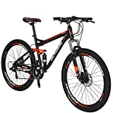 Full Suspension Mountain Bike 21 Speed Bicycle 27.5 inches Mens MTB...