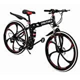 Mens Trek Mountain Bike | 26 Inches Folding Mountain Bicycle,21-Speed...