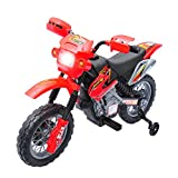 Qaba 6V Kids Electric Battery-Powered Ride-On Motorcycle Dirt Bike Toy...