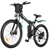 ANCHEER 26'' Folding Electric Mountain Bike, Electric Bike with 36V...
