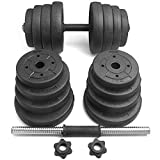 Dumbbell Set,66 Lbs Adjustable Hat Gym Home Barbell,Multiple Dumbbell...