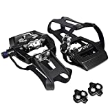 BV Bike Shimano SPD Compatible 9/16'' Pedals with Toe Clips (SPD...