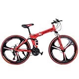 Foldable Mountain Bikes, Kptoaz 26 Inch 21 Speed Mountain Bicycle...