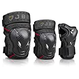 JBM Adult BMX Bike Knee Pads and Elbow Pads with Wrist Guards...