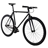Golden Cycles Fixed Gear Bike Steel Frame with Deep V Rims Collection,...