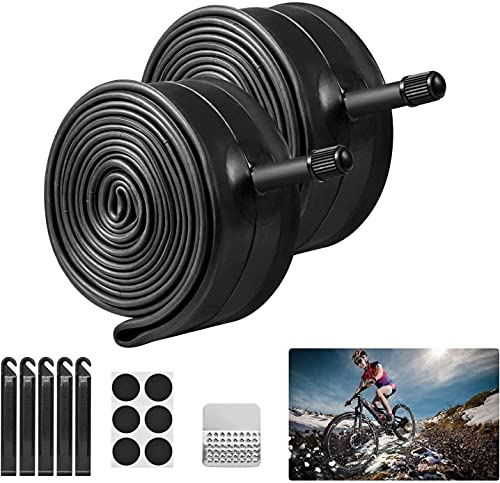 Newtion 2 Pack 26' Bike Inner Tubes with 5 Tire Levers, 26' x...