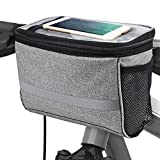 Bicycle BicycleStore Cycling Basket Handlebar Bag with Sliver Grey...