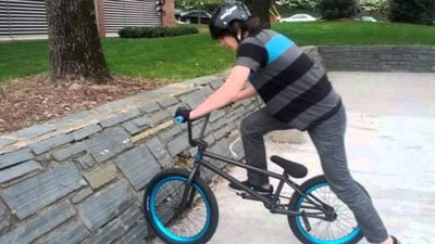 bmx fakie out